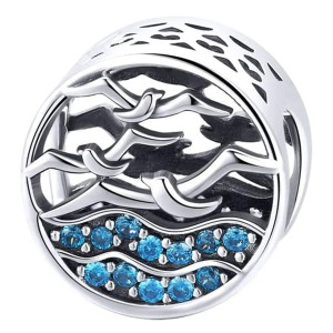 Charms Mewa Do Pandora, Apart Beads Srebro 925